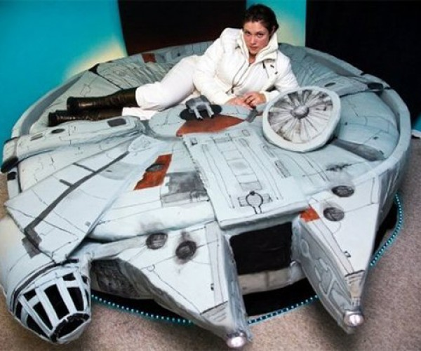 Millennium Falcon Light-Up Bed Does the Kessel Run Lying Down