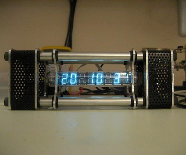 Jason Von Nieda'S Tube Clock Tells Time in a Vacuum