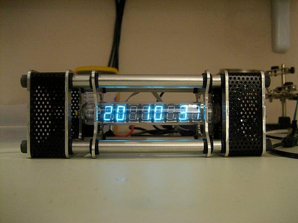 The Nieda vacuum tube clock