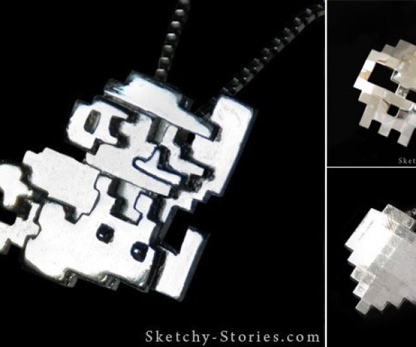 Silver 8-Bit Gamer Pendants Are Pixelicious
