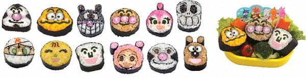 anpanman sushi bento faces