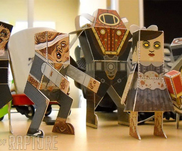 Papercraft Bioshock 2 Characters Are Square but Still Cool