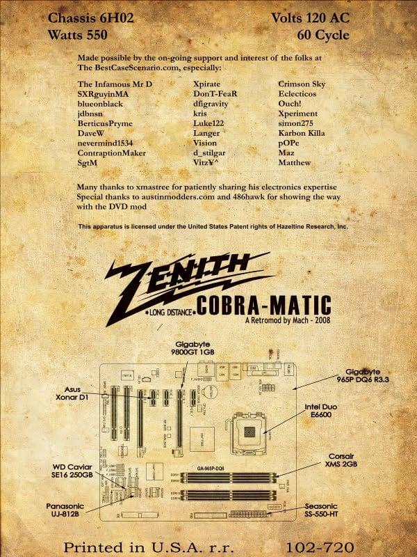 Cobra Matic Retro Zenith Turntable Becomes Modern Pc