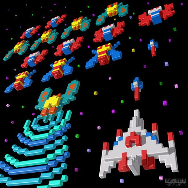 galaga sevens heaven illustration