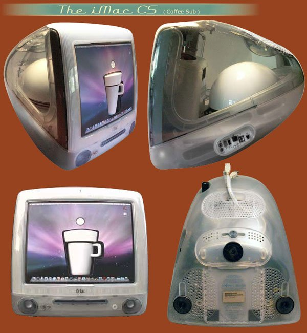 imac c5 coffee maker casemod
