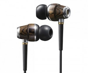 Jvc in-Ear Monitors have Wooden Housing, Golden Price