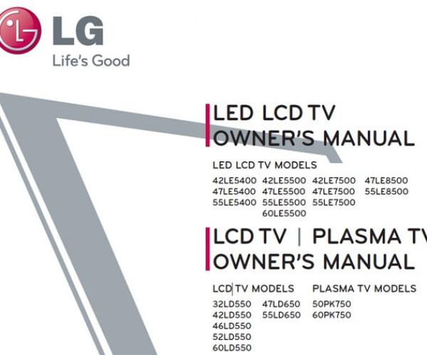 LG 2010 Plasma, LCD and LED Tv Line Leaked on Fcc Website
