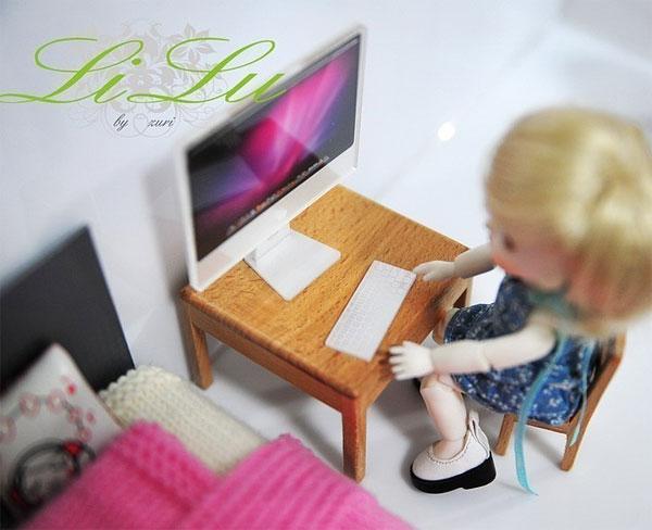 li lu imac miniature dollhouse blythe