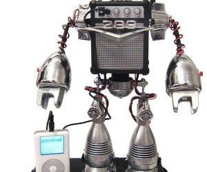 Speaker Bot: Recycled Robot Plays Your iPod Tunes in Style