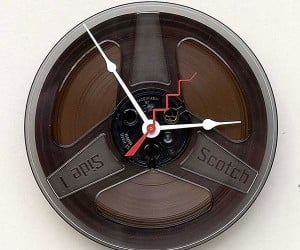 Magnetic Tape Clock: Timeless and Attractive