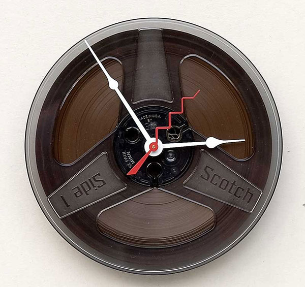 magnetic tape wall clock
