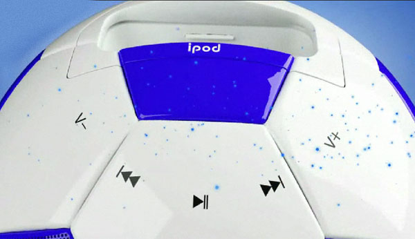 misoccer ipod football dock