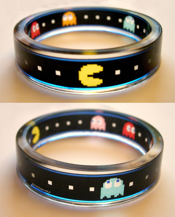 pacman clear resin bracelet by paramour designs