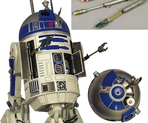 R2-D2 Statue Armed With All of the Tools an Astromech Needs