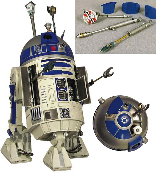 R2 D2 Statue Armed With All Of The Tools An Astromech Needs