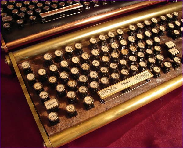 datamancer steampunk keyboard