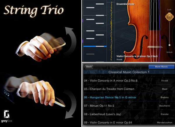 string trio iphone violin app