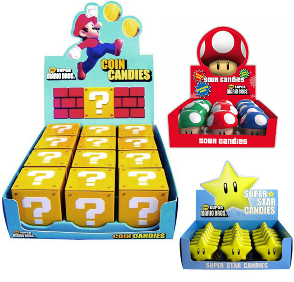 super mario star mushroom question mark candies