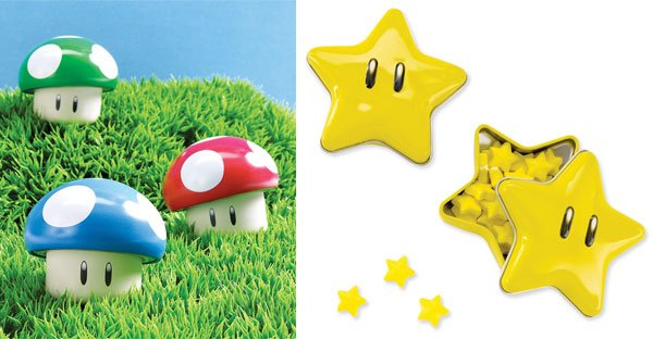 super mario mushroom and star candies