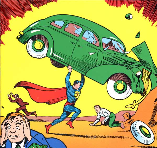 superman lifting car