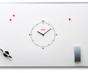 Taskwatch Magnetic White Board With Clock: Write on Time