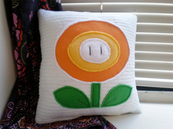 Super Mario Bros. Fire Flower Pillow