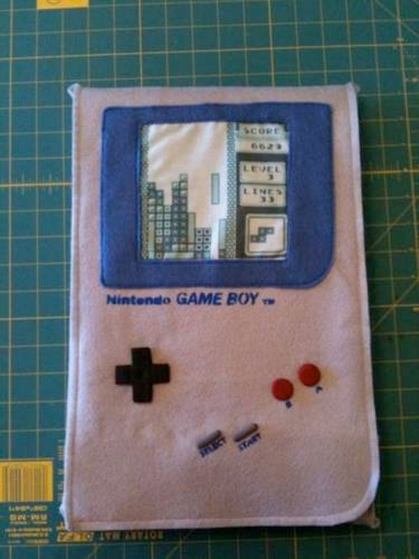 gameboy laptop sleeve diy handmade