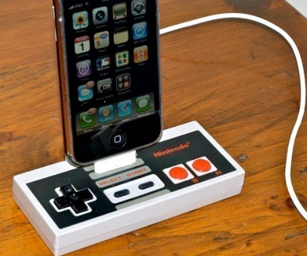 The Old and the New: Nintendo Controller iPhone Dock