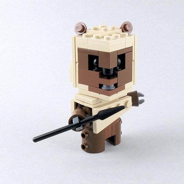 star wars ewok lego cubedude
