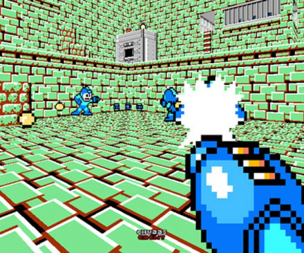 Mega Man + Doom = Adorable Deathmatch