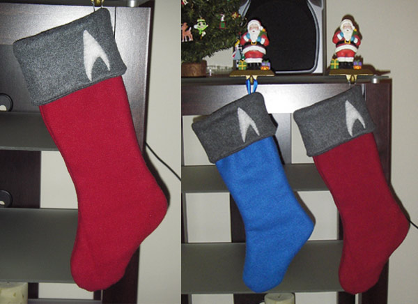 star trek stocking xmas