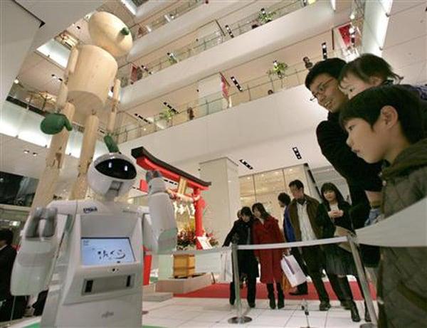 fujitsu robot enon service japan