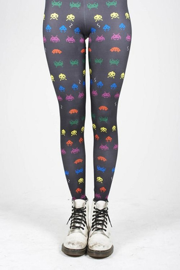 space invader tights geek wear
