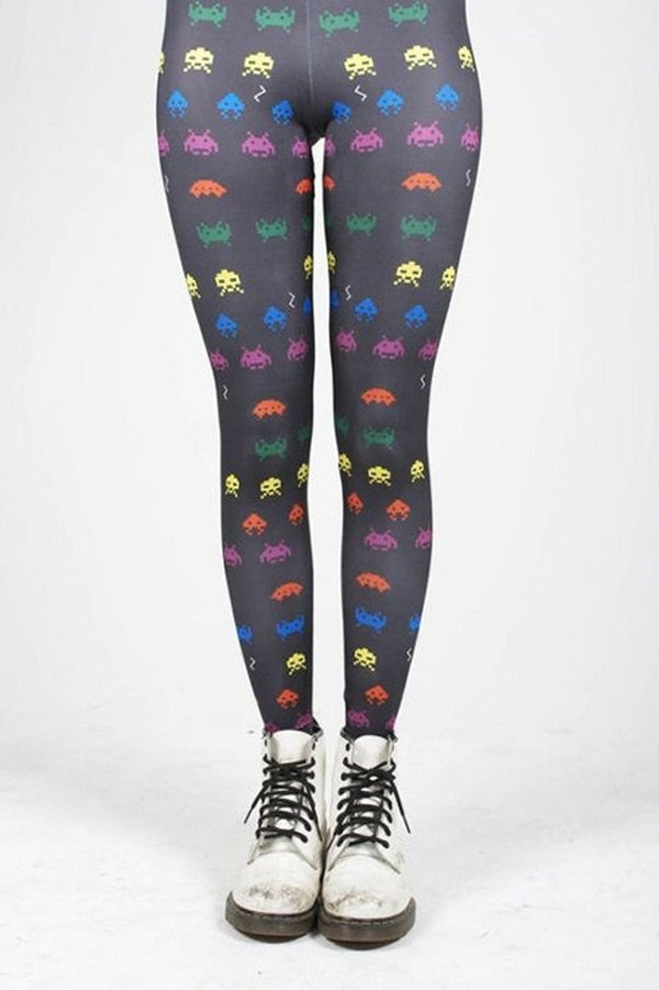 space invader tights geek wear