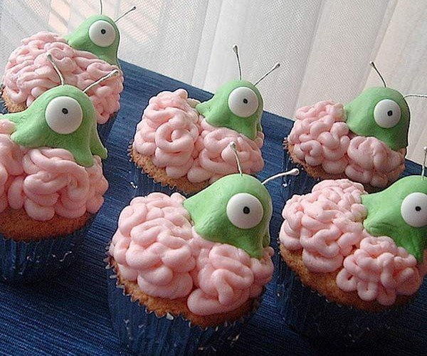 Brain Slug Cupcakes: Wear a Helmet Before Eating One