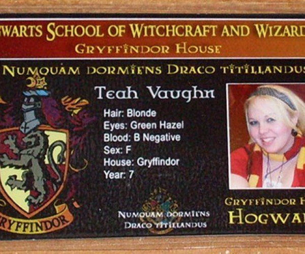 Hogwarts School Id Card: the Surefire Way to Not Buy Booze and Not Get in Bars