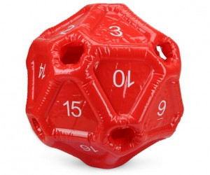 Inflatable D20 Makes for Nerdy Pool Parties