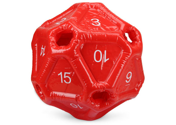 Inflatable d20 1
