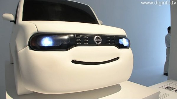 Nissan smiling vehicle