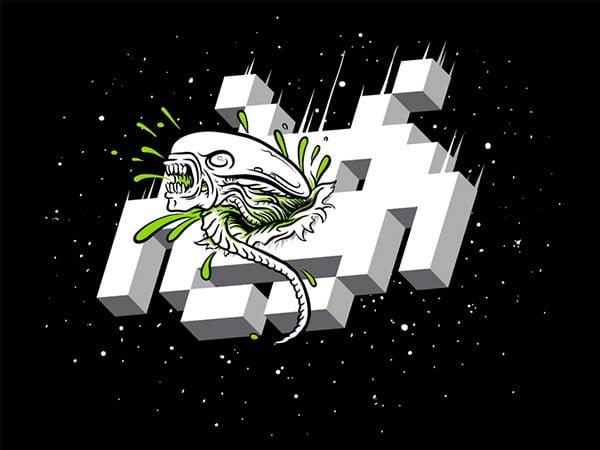 alien invader shirt