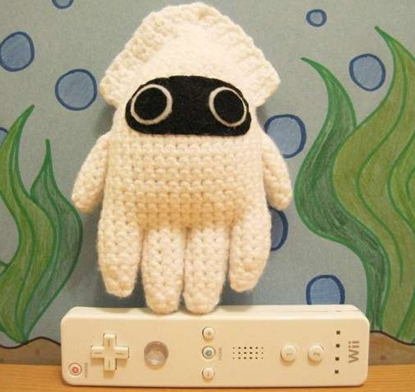 amigurumi mario blooper squid by enemyairship