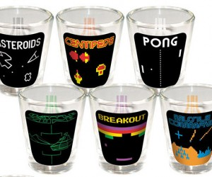 Atari Shot Glasses Perfect for a Game of Quarters