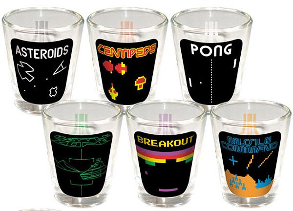 atari shot glasses