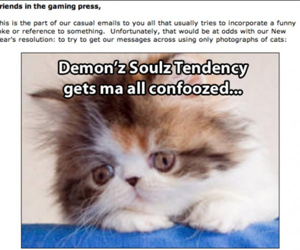 Atlus Late to Catch Up on Memes, Sends Press Release With Lolcats in It