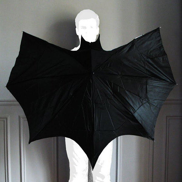 how to make bat wings out of an umbrella