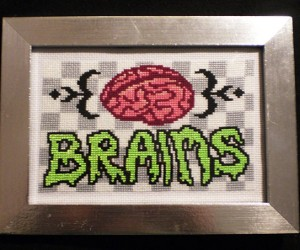 17th Century Craft + Post-Apocalyptic Sensibilities = Zombie Cross-Stitch