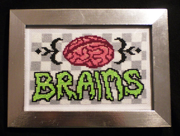 brains cross stitch