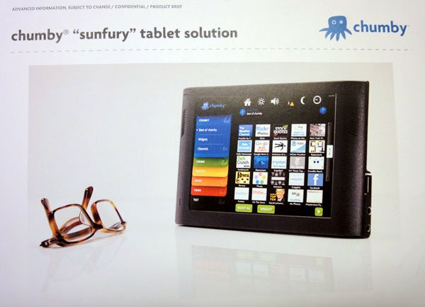 chumby sunfury tablet solution