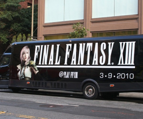 Final Fantasy Xiii Party Bus Hits the Mean Streets of San Francisco