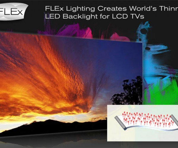 Flex Lighting Claims World'S Thinnest LED Backlight for LCD Tvs